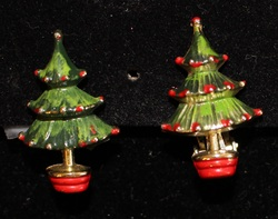 Christmas Tree Clip ons Vintage up close