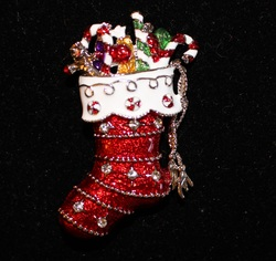 Christmas-Stocking-Silver-Trim