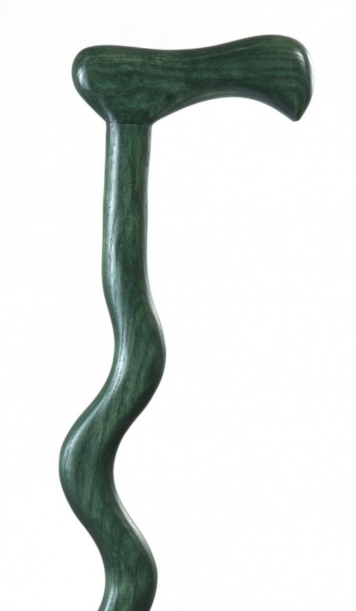 Green Walking Stick on white
