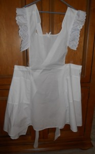 White Pinnafore Front
