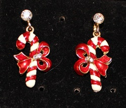 Gold-Trim-Candy-Cane-post-Earrings