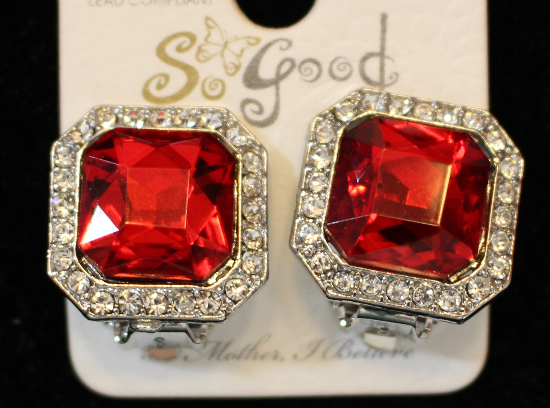 Square Red Crystal