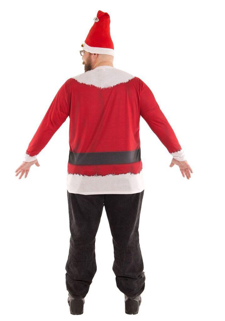 Big Man Size Santa Suit Tee Shirt 3XL, 4XL